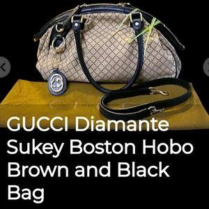 FPD😉GUCCI Sukey Diamante Boston Hobo Bag
